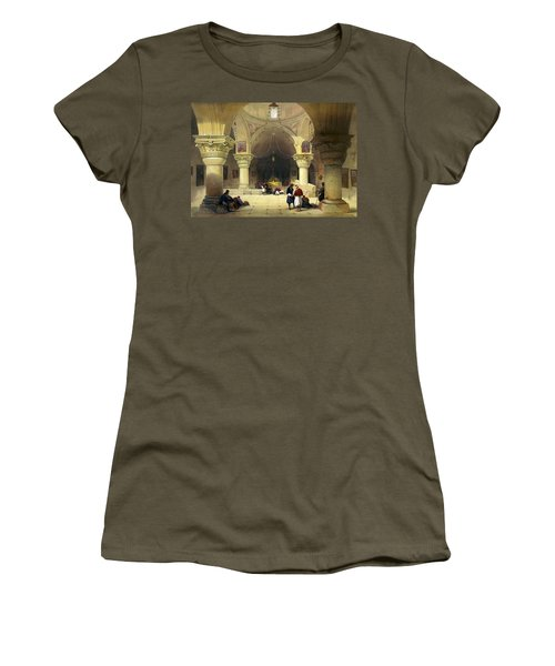 Inside The Church Of The Holy Sepulchre In Jerusalem Women's T-Shirt (Athletic Fit)