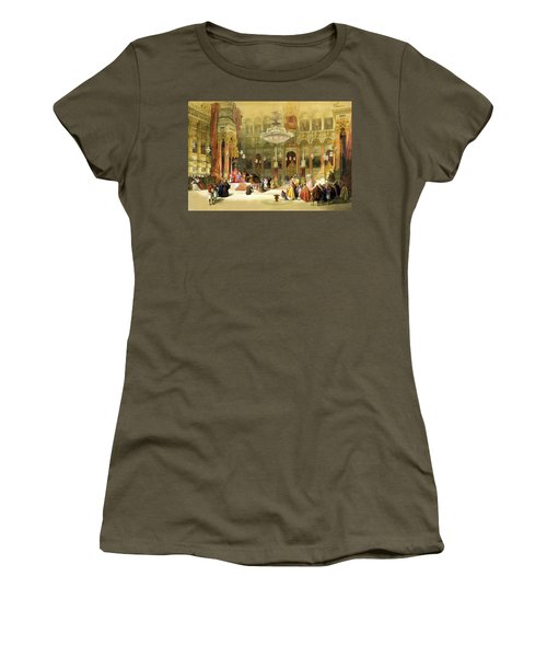 Inside The Church Of The Holy Sepulchre Women's T-Shirt (Junior Cut) by Munir Alawi