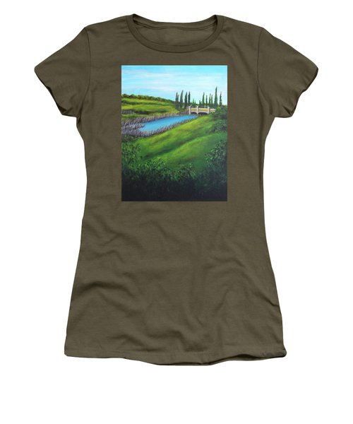 Inspiration In Mountain House Women's T-Shirt (Athletic Fit)