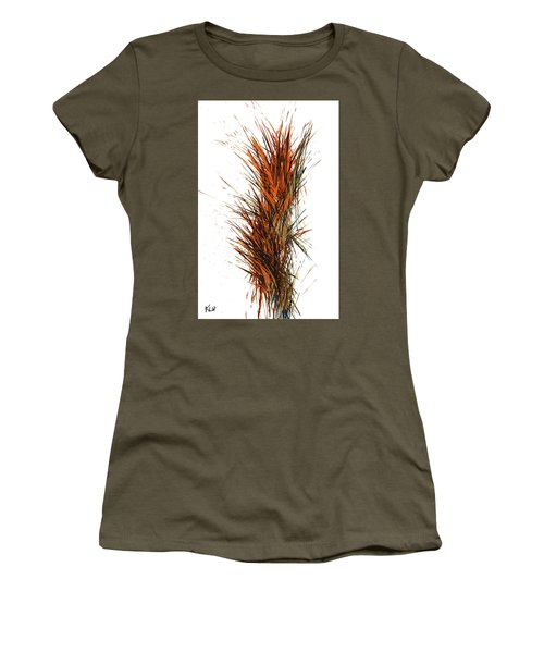 Women's T-Shirt (Athletic Fit) featuring the painting Intensive Abstract Painting 1030.050512 by Kris Haas