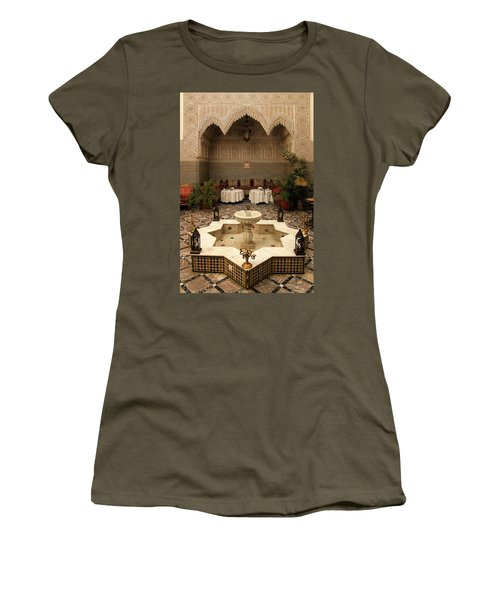 Interior Of A Traditional Riad In Fez Women's T-Shirt (Junior Cut) by Ralph A  Ledergerber-Photography