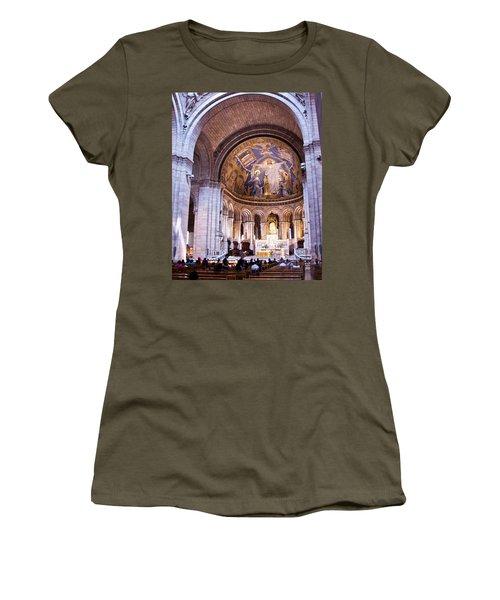Interior Sacre Coeur Basilica Paris France Women's T-Shirt