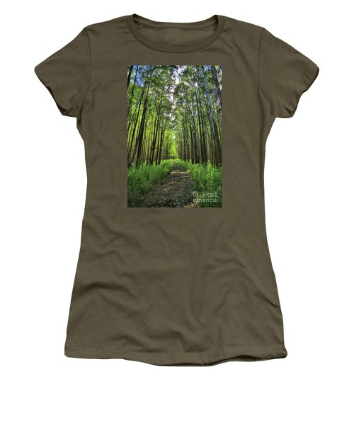 Women's T-Shirt (Junior Cut) featuring the photograph Into The Forest by DJ Florek