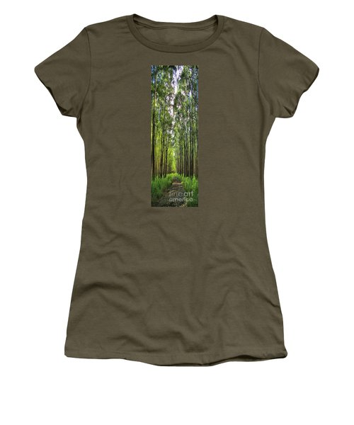Women's T-Shirt (Junior Cut) featuring the photograph Into The Forest I Go by DJ Florek