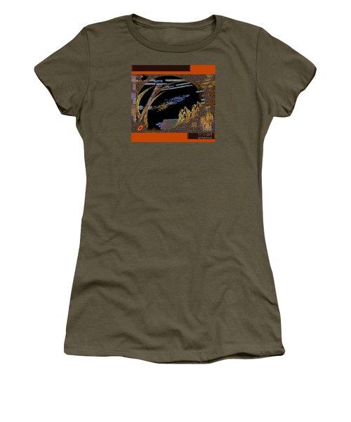 Women's T-Shirt featuring the digital art Inw_20a5581_hoofed by Kateri Starczewski