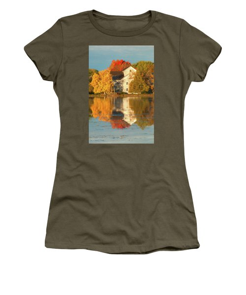 Iola Mill Fall Reflection Women's T-Shirt (Junior Cut) by Trey Foerster