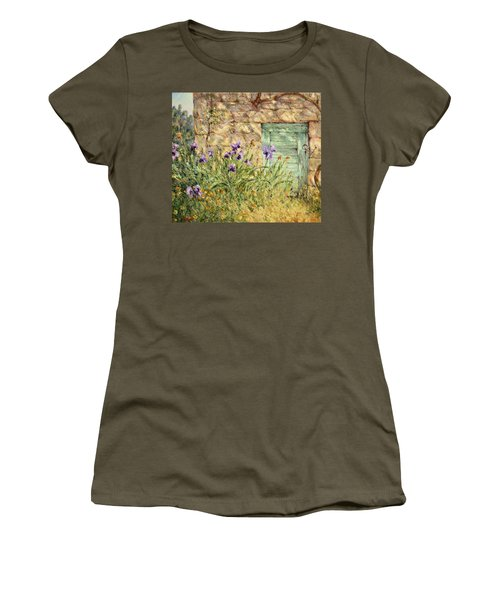 Irises At The Old Barn Women's T-Shirt