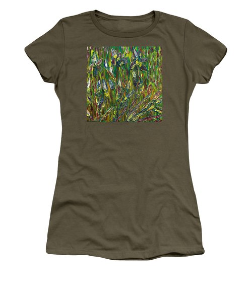 Women's T-Shirt (Junior Cut) featuring the painting Irises Dance by Vadim Levin