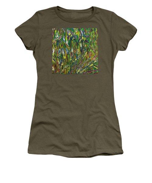Irises Dance Women's T-Shirt (Junior Cut) by Vadim Levin