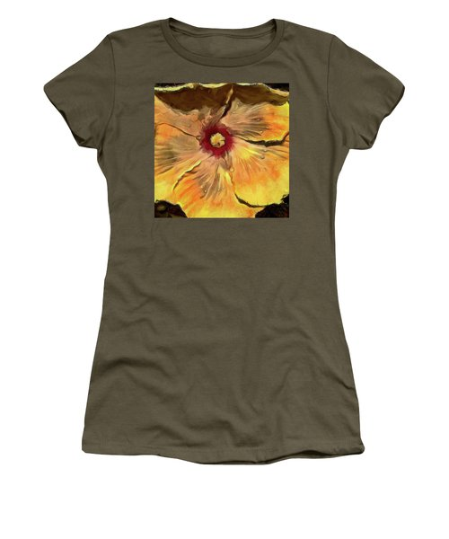 Women's T-Shirt (Junior Cut) featuring the mixed media Isabella by Trish Tritz