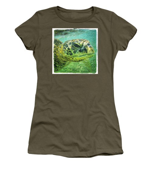 Isabelle The Turtle Women's T-Shirt (Athletic Fit)