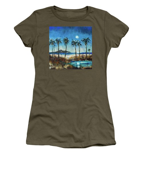 Island Lagoon At Night Women's T-Shirt