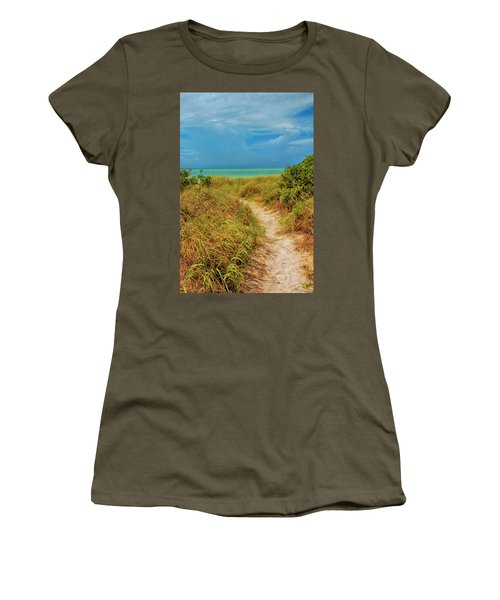 Island Path Women's T-Shirt (Athletic Fit)