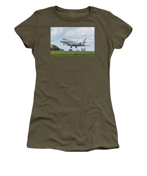 Women's T-Shirt (Athletic Fit) featuring the photograph Israel Aircraft Industries Galaxy 3 by Guy Whiteley
