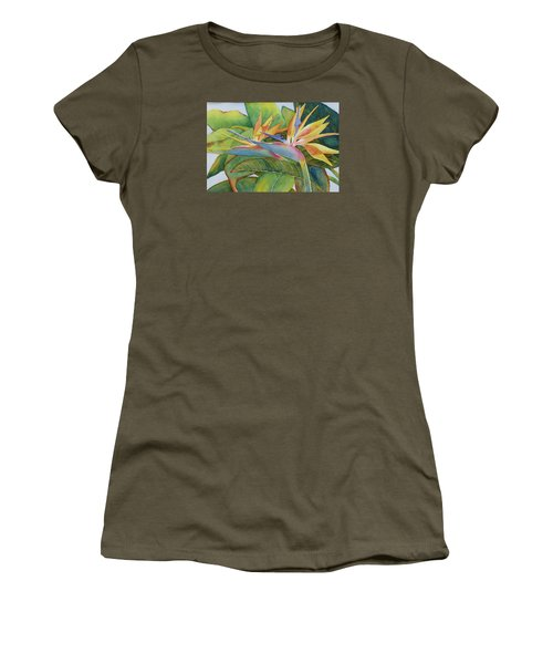 Women's T-Shirt (Junior Cut) featuring the painting It Takes Two by Judy Mercer