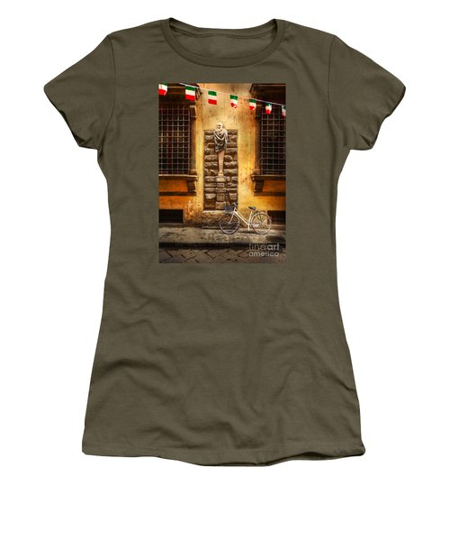 Italia Cential Bicycle Women's T-Shirt (Junior Cut) by Craig J Satterlee