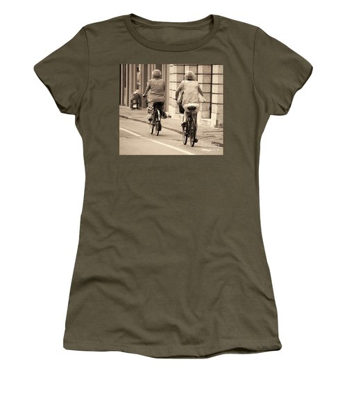 Women's T-Shirt (Athletic Fit) featuring the photograph Italian Lifestyle by Frank Stallone