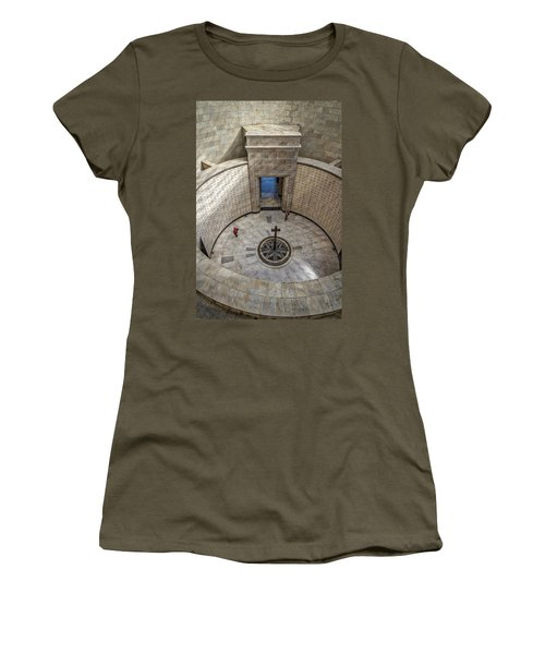 Women's T-Shirt (Athletic Fit) featuring the photograph Italian World War One Shrine #3 by Stuart Litoff
