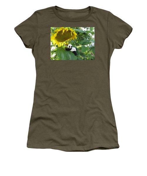 Women's T-Shirt (Junior Cut) featuring the photograph It's A Big Sunflower by Ausra Huntington nee Paulauskaite