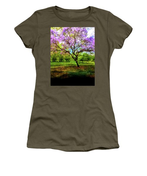 Jacaranda Tree Women's T-Shirt (Junior Cut) by Joseph Hollingsworth