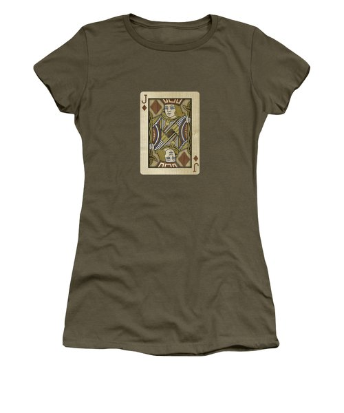 Jack Of Diamonds In Wood Women's T-Shirt