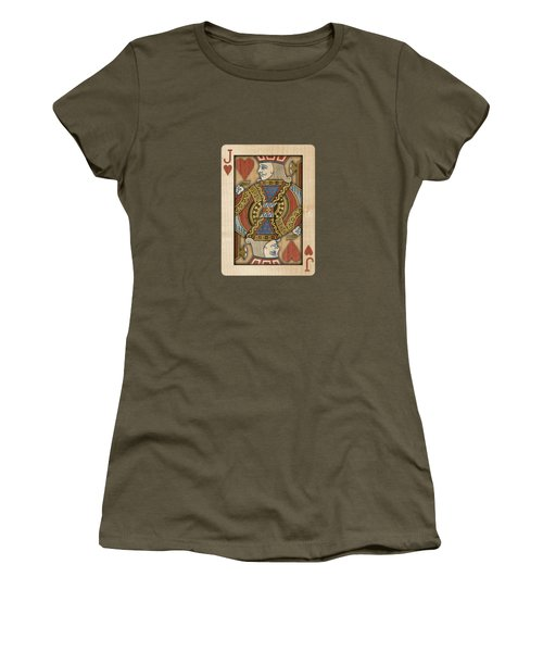 Jack Of Hearts In Wood Women's T-Shirt