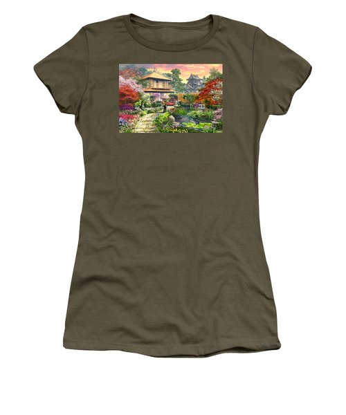 Japan Garden Variant 2 Women's T-Shirt (Athletic Fit)