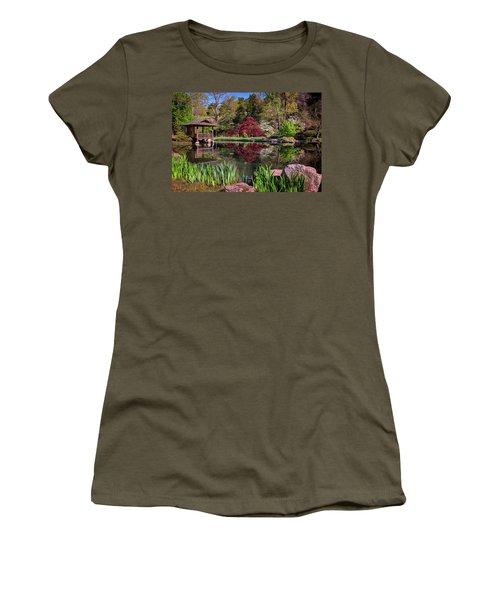Women's T-Shirt (Junior Cut) featuring the photograph Japanese Garden At Maymont by Rick Berk