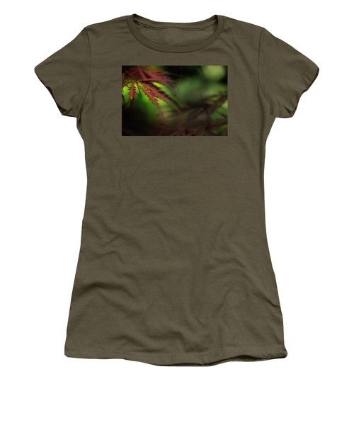 Women's T-Shirt (Junior Cut) featuring the photograph Japanese Maple by Mike Eingle