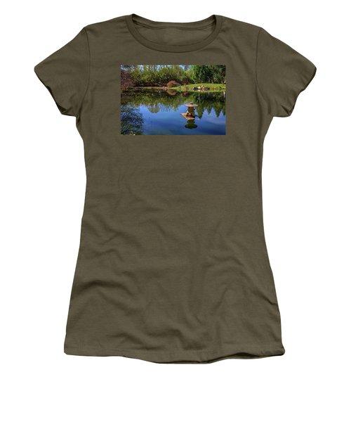 Women's T-Shirt (Junior Cut) featuring the photograph Japanese Reflections At Maymont by Rick Berk