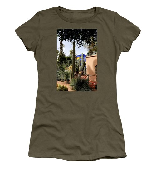 Women's T-Shirt (Junior Cut) featuring the photograph Jardin Majorelle 4 by Andrew Fare