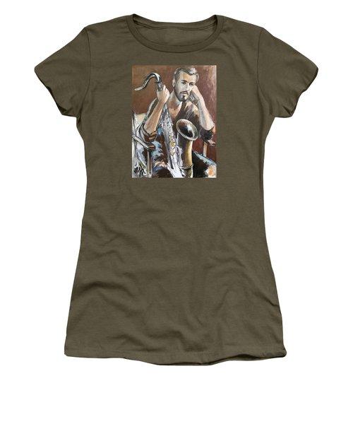 Jazz Women's T-Shirt (Junior Cut) by Vali Irina Ciobanu