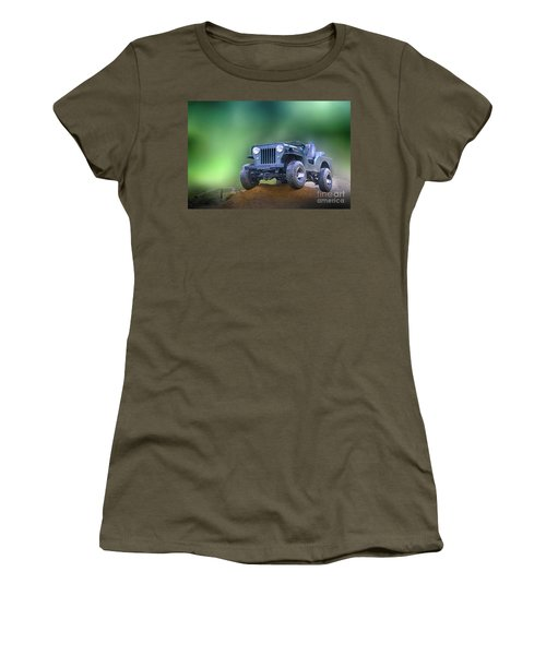 Women's T-Shirt (Junior Cut) featuring the photograph Jeep by Charuhas Images