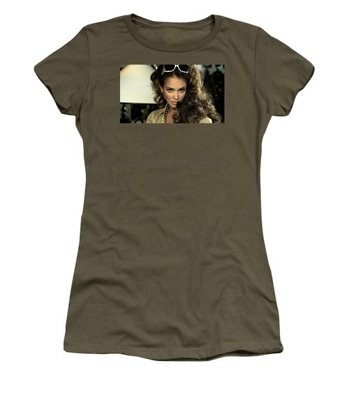 Jessica Alba Women's T-Shirt (Athletic Fit)