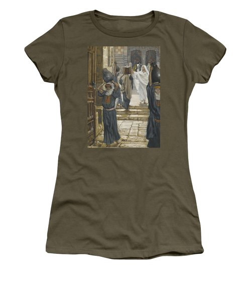 Jesus Forbids The Carrying Of Loads In The Forecourt Of The Temple Women's T-Shirt