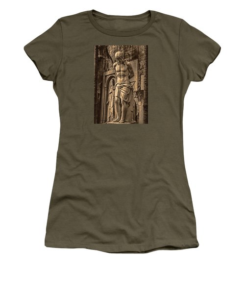 Women's T-Shirt (Junior Cut) featuring the photograph Jesus In Rome by Trey Foerster