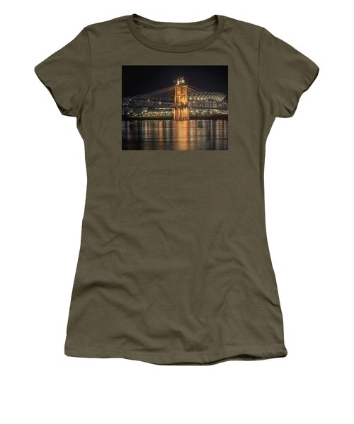 John A. Roebling Suspension Bridge Women's T-Shirt (Athletic Fit)