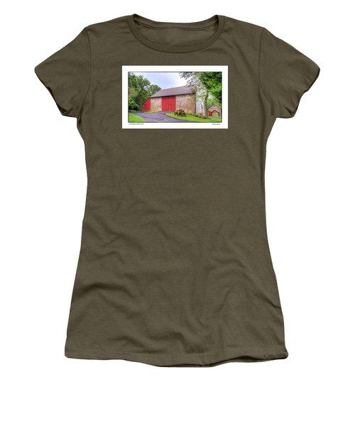 Women's T-Shirt (Junior Cut) featuring the photograph John Updike's Childhood Barn by R Thomas Berner