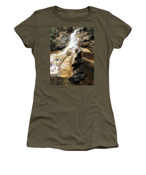 Jones Gap Falls  Women's T-Shirt (Junior Cut) by Kelly Hazel