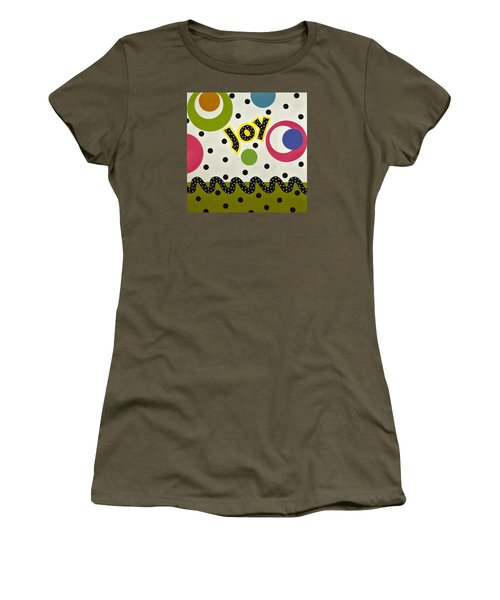 Women's T-Shirt (Junior Cut) featuring the mixed media Joy by Gloria Rothrock