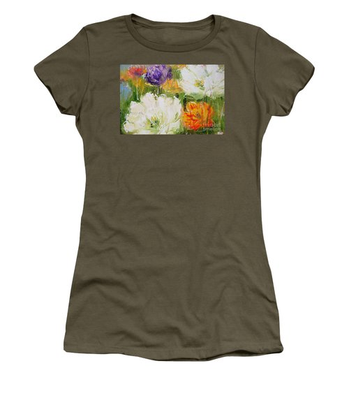 Joy With Tulips Women's T-Shirt (Athletic Fit)