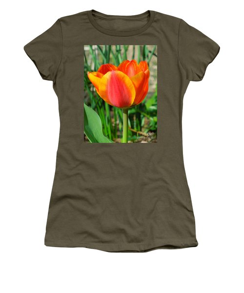 Joyful Tulip Women's T-Shirt (Athletic Fit)
