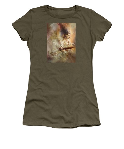 Women's T-Shirt (Junior Cut) featuring the digital art Joyment by Te Hu