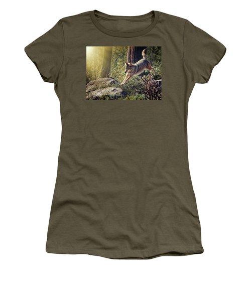 Jumping Rocks Women's T-Shirt (Junior Cut) by Elaine Malott