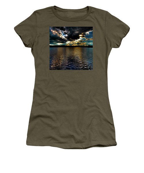 Women's T-Shirt (Junior Cut) featuring the photograph June Sunset On Nicks Lake by David Patterson