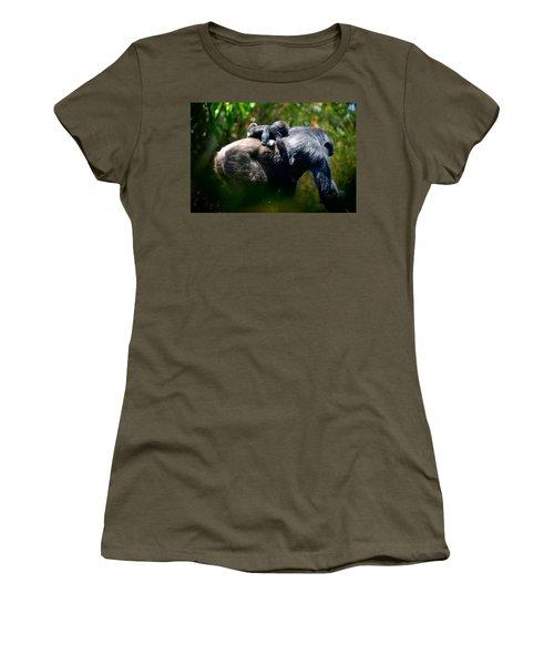 Jungle Baby Hitch Hiker Women's T-Shirt (Junior Cut) by Lori Seaman
