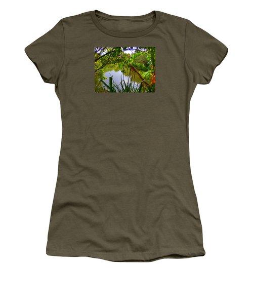 Jungle Garden View Women's T-Shirt (Athletic Fit)
