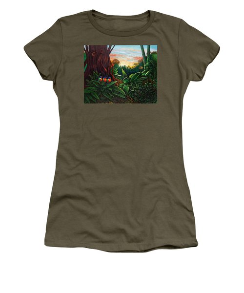Jungle Harmony 3 Women's T-Shirt (Athletic Fit)