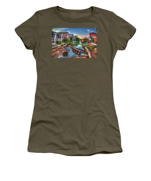 Just Before Sunset 2 Reedy River Falls Park Greenville South Carolina Art Women's T-Shirt