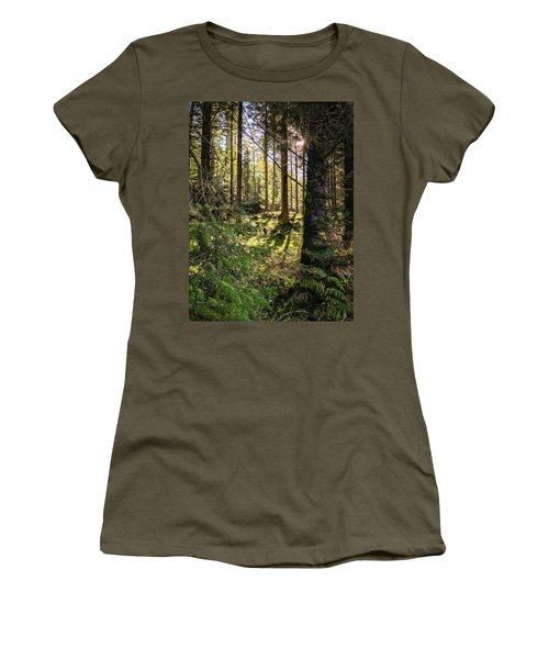 Women's T-Shirt (Athletic Fit) featuring the photograph Just Beyond  by Geoff Smith